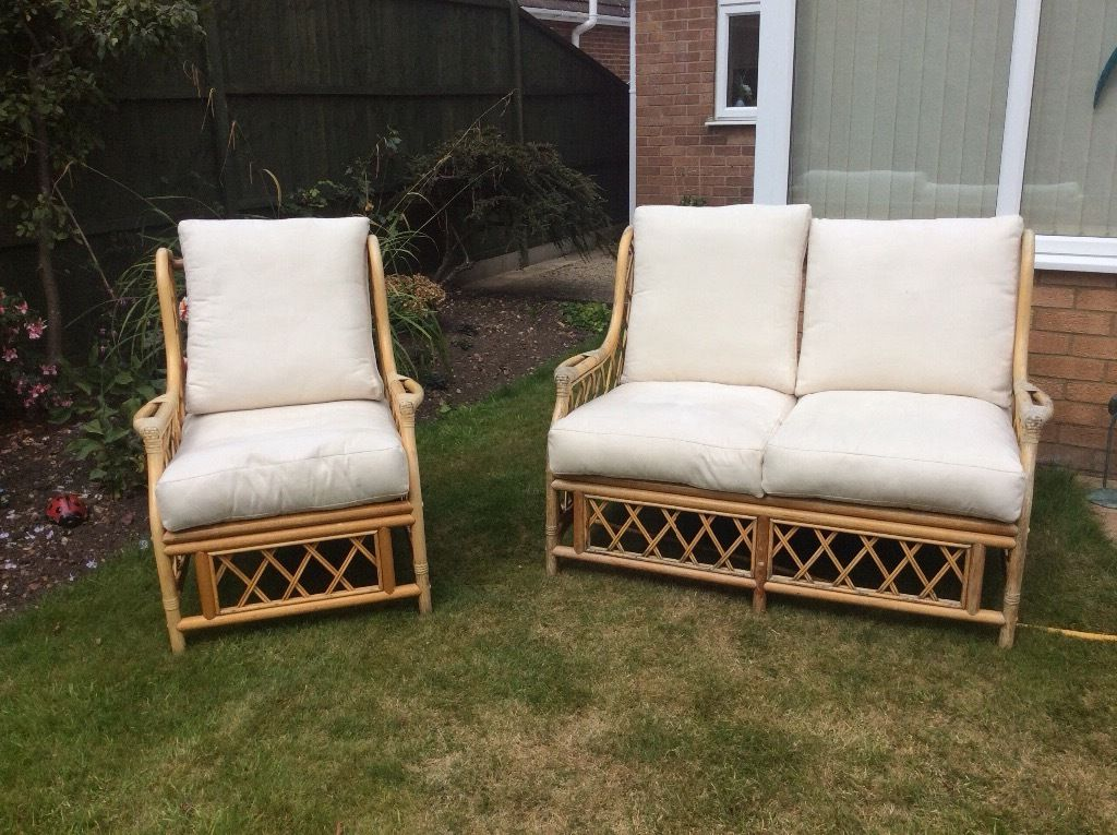 Cane Furniture - chair and 2 seater