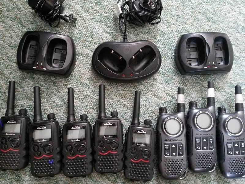 binatone action twin plus TWO-WAY RADIO and motorola TLKR T8