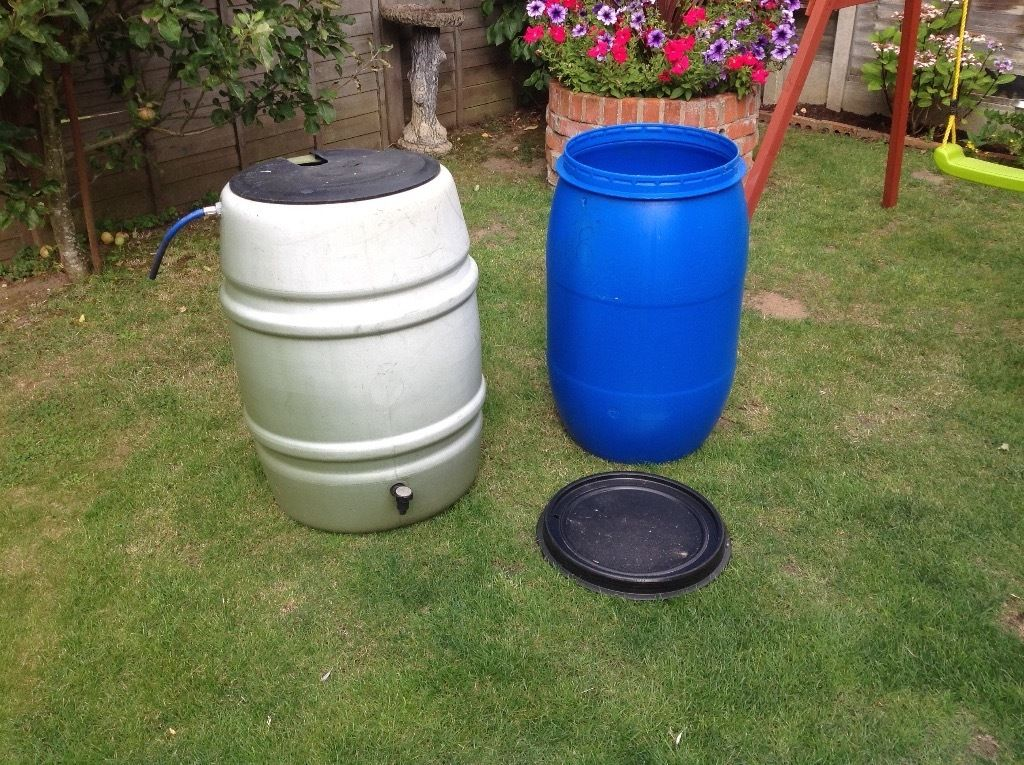 Two water butts