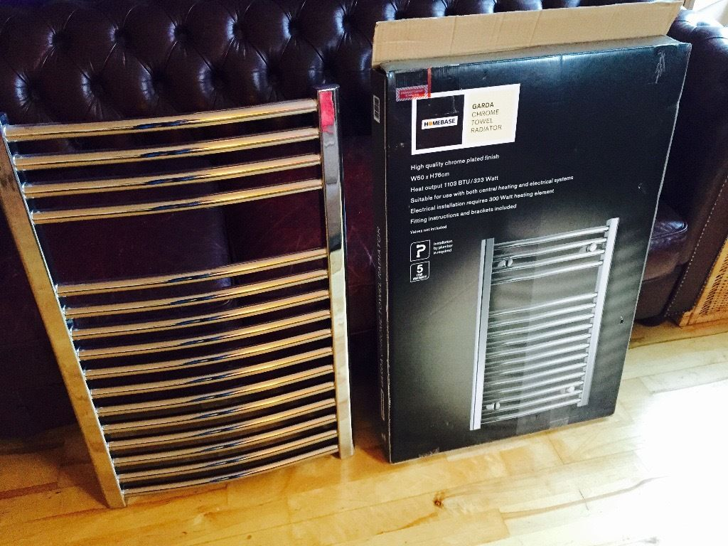 Chrome Towel Radiator (heated)