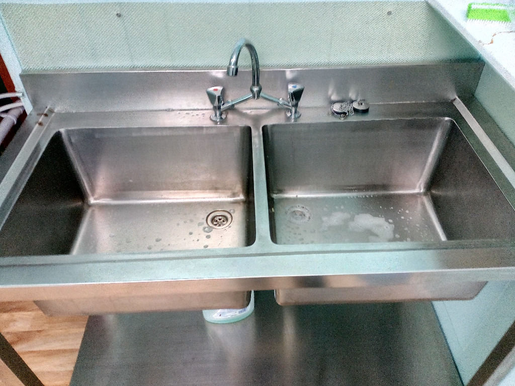 Catering Stainless Steel Double Bowl Sink