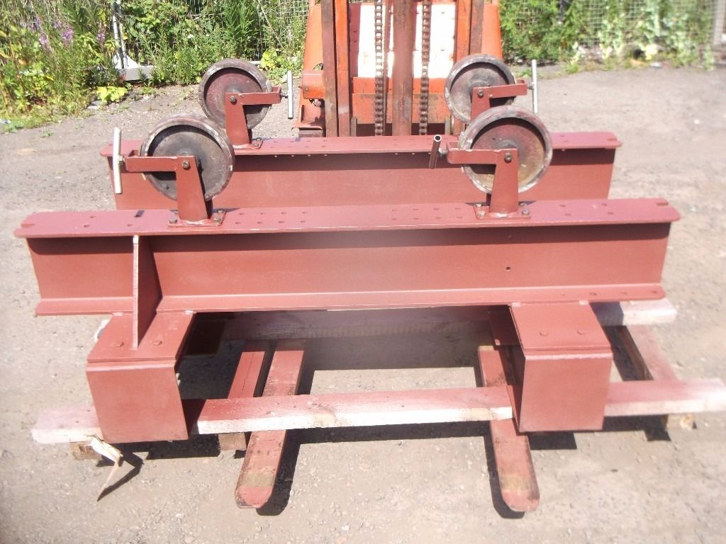 Heavy duty pipe roller stands welding positioning stands 2 sets available
