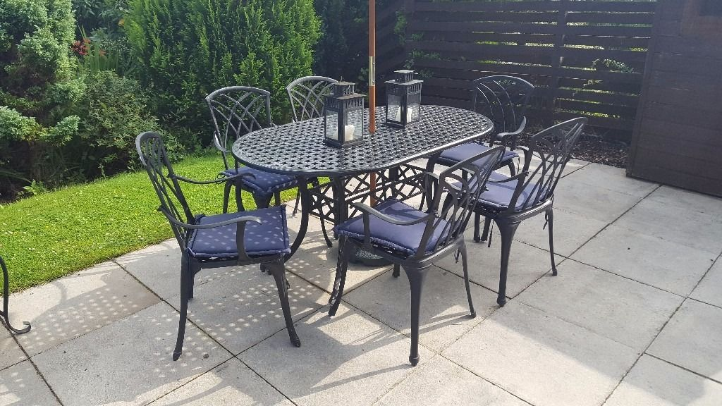 Heavy quality aluminium dining set for sale