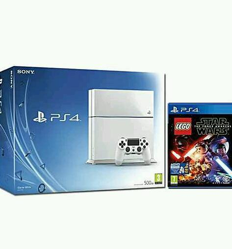 White ps4 brand new sealed with new Lego star wars