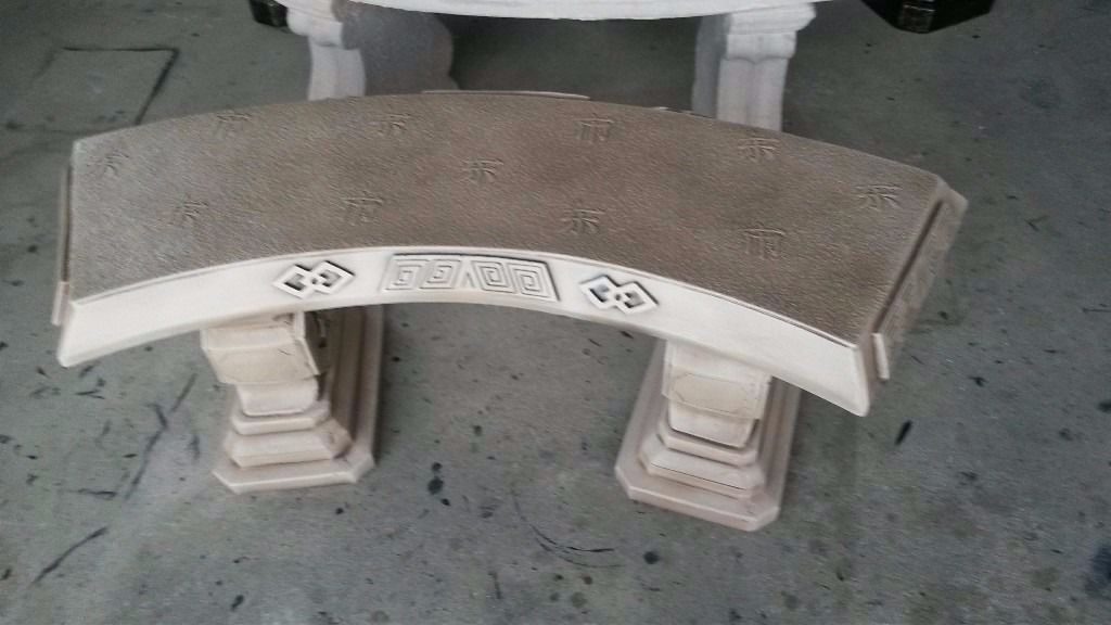 Japanese style concrete bench