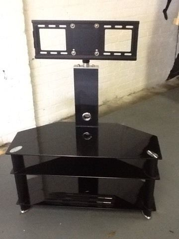 TV black glass stand