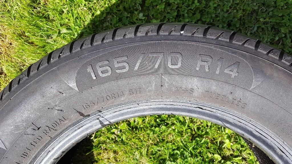Pair of Tyres - Primewell PS850 165/70 R14 6mm tread - used for less than 1 month