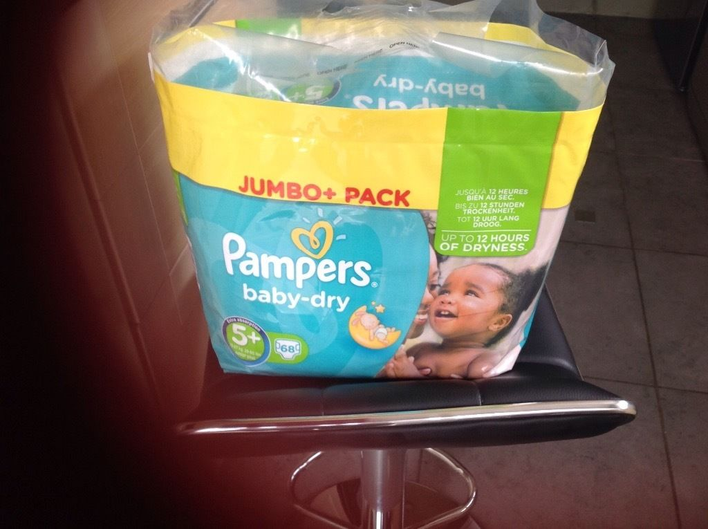 Pampers Nappies Baby Dry 5+ FREE* FREE* FREE*