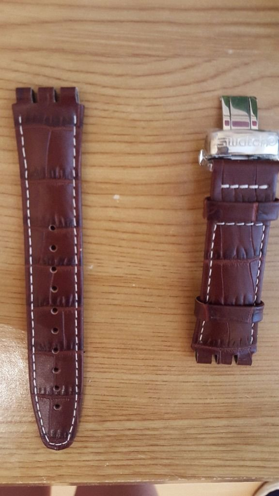 A Brand NEW Swatch Leather Strap