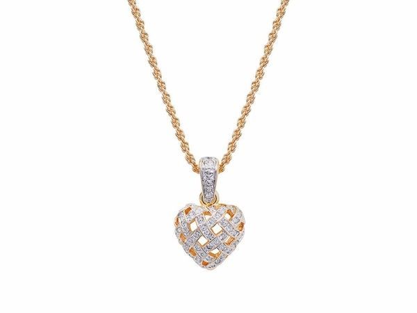Genuine Swarovski Brand New AND Boxed (With Certificate) Woven Heart Pendant Necklace