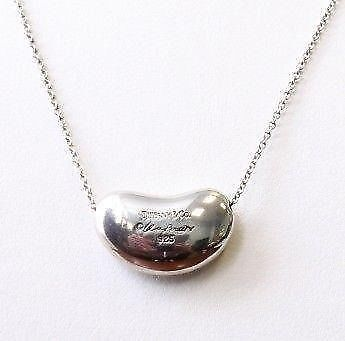 LOST - Tiffany, Elsa Peretti bean, sterling silver pendant. Immense sentimental value