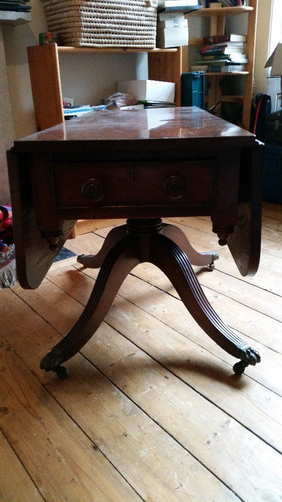 Victorian antique drop leaf table