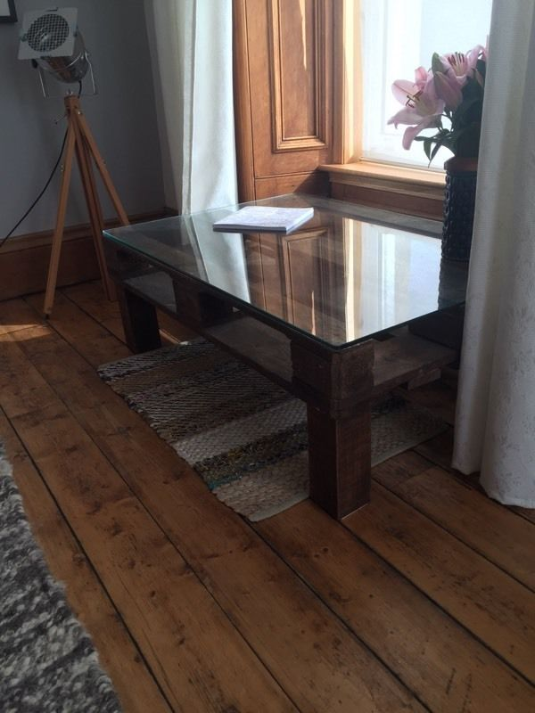 2 matching items! Industrial style table and coffee table - reclaimed crates (Shoreditch)