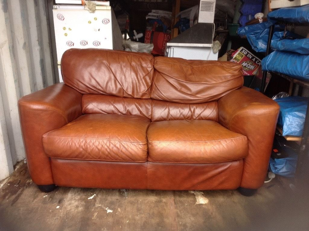 Leather settee and two armchairs,free gratis,