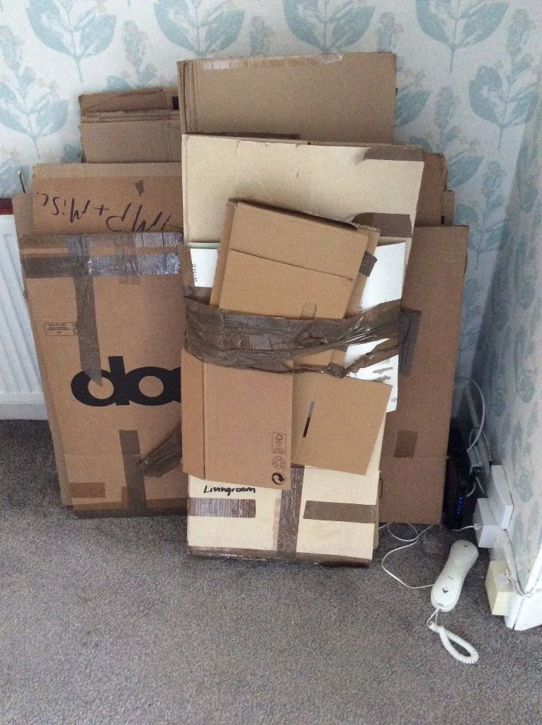 Free cardboard boxes - used for a house removal