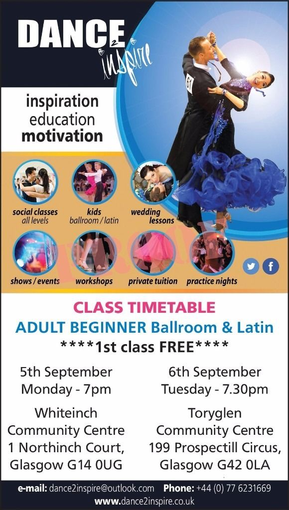 Ballroom and Latin Beginner classes