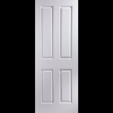"""4 Panel Primed Woodgrain Internal Door, (H)2040mm (W)726mm or 80"""" tall and 28.5"""" wide."""