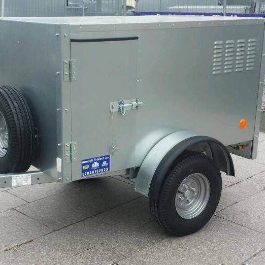 Galvanised trailers suitable for dogs with 2 & 3 compartments AVAILABLE AT ARMAGH TRAILERS