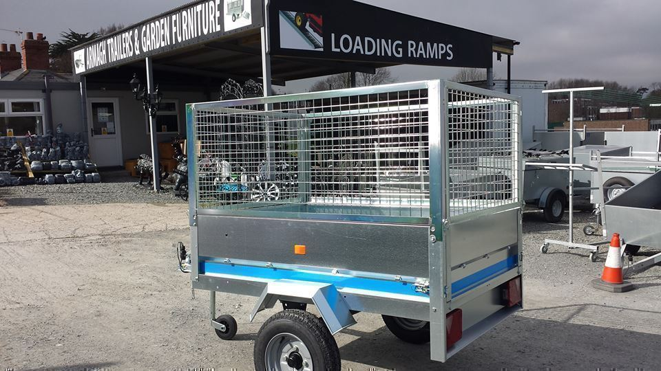 5x3 MAYPOLE GALVANISED TRAILER WITH MESHSIDES CAMPING FISHING GEAR MOVING GO-KART QUADS ATVS TOOLS