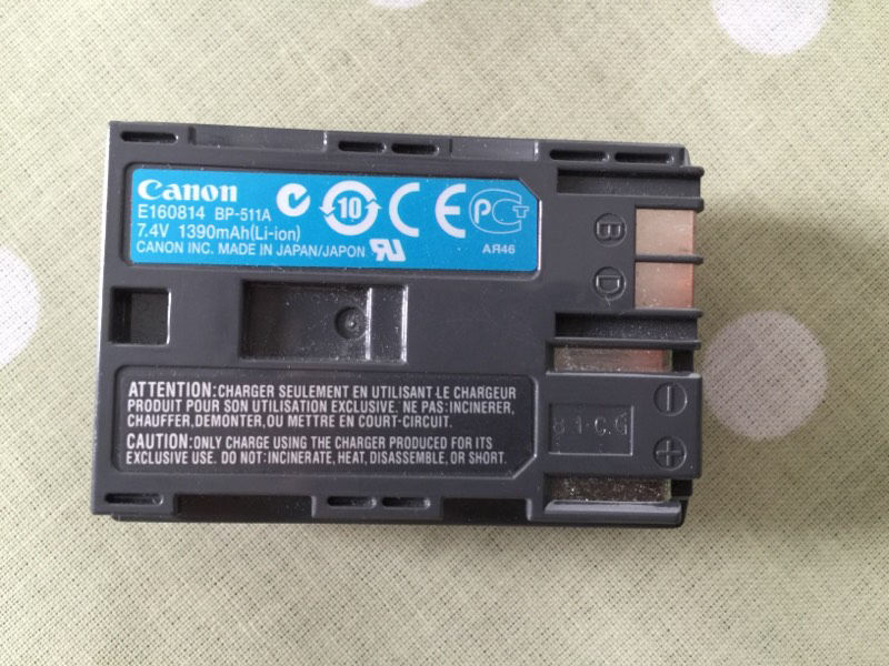 Canon BP-511a batteries (x6) and charger