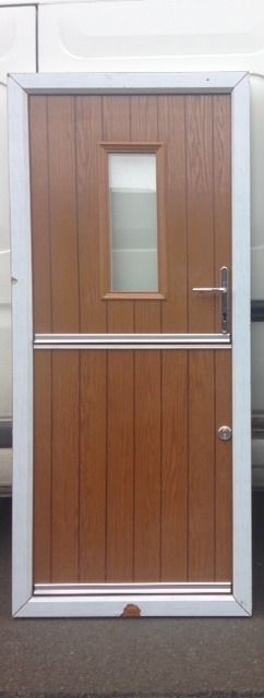 COMPOSITE STABLE DOOR Golden oak / white NEW miss measure