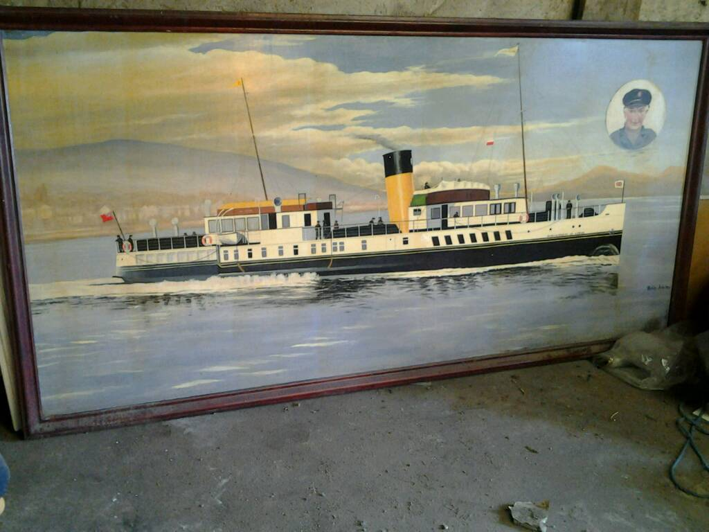8x4 painting of the paddle steamer Marshioness of Lorne