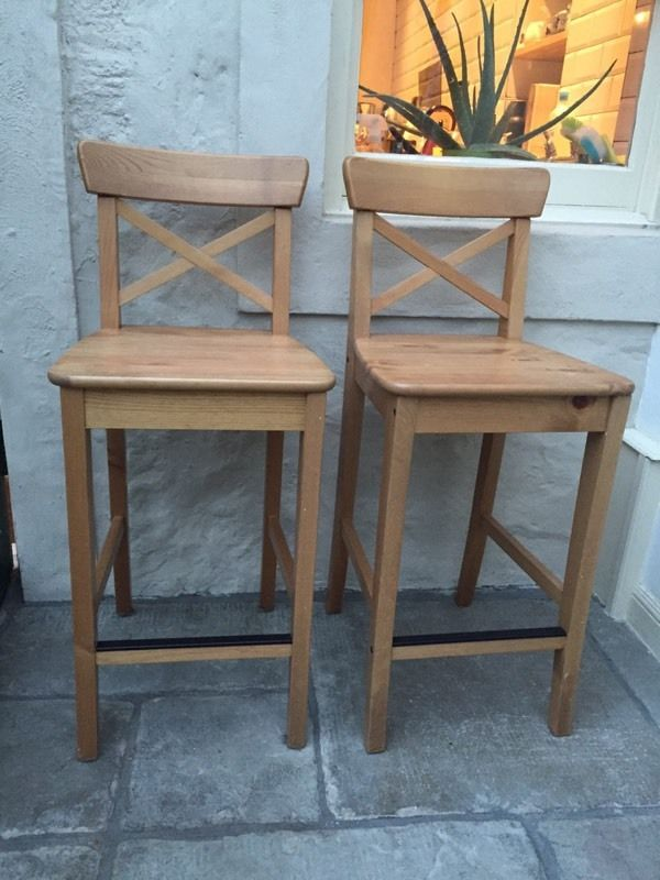 Bar stools x2 ikea