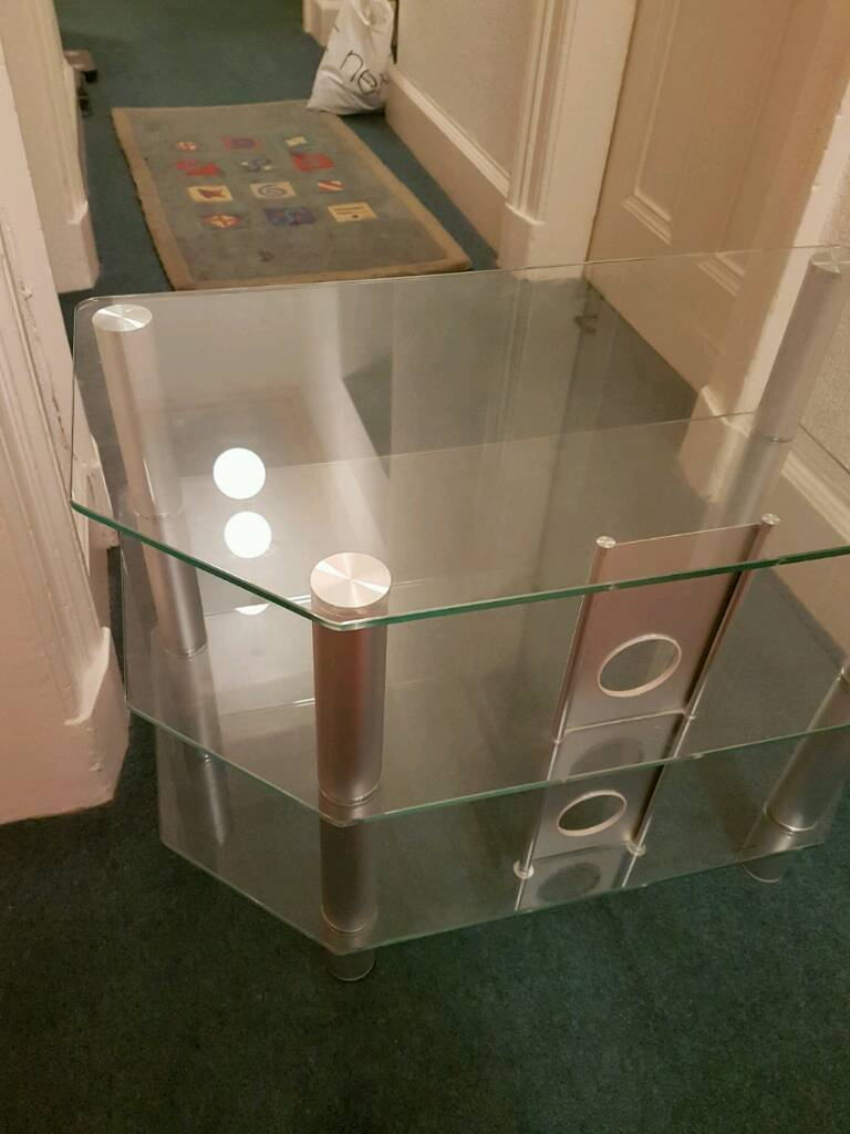 Like new glass TV stand