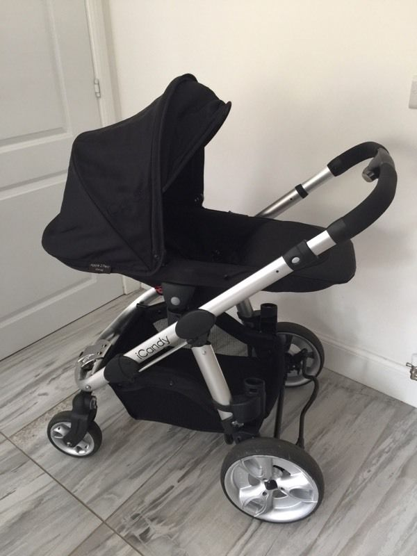 Icandy Apple 2 Pear double buggy single pram carrycot travel system