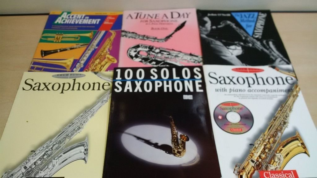 6 Saxophone Books to help with Learning - All in Good Condition