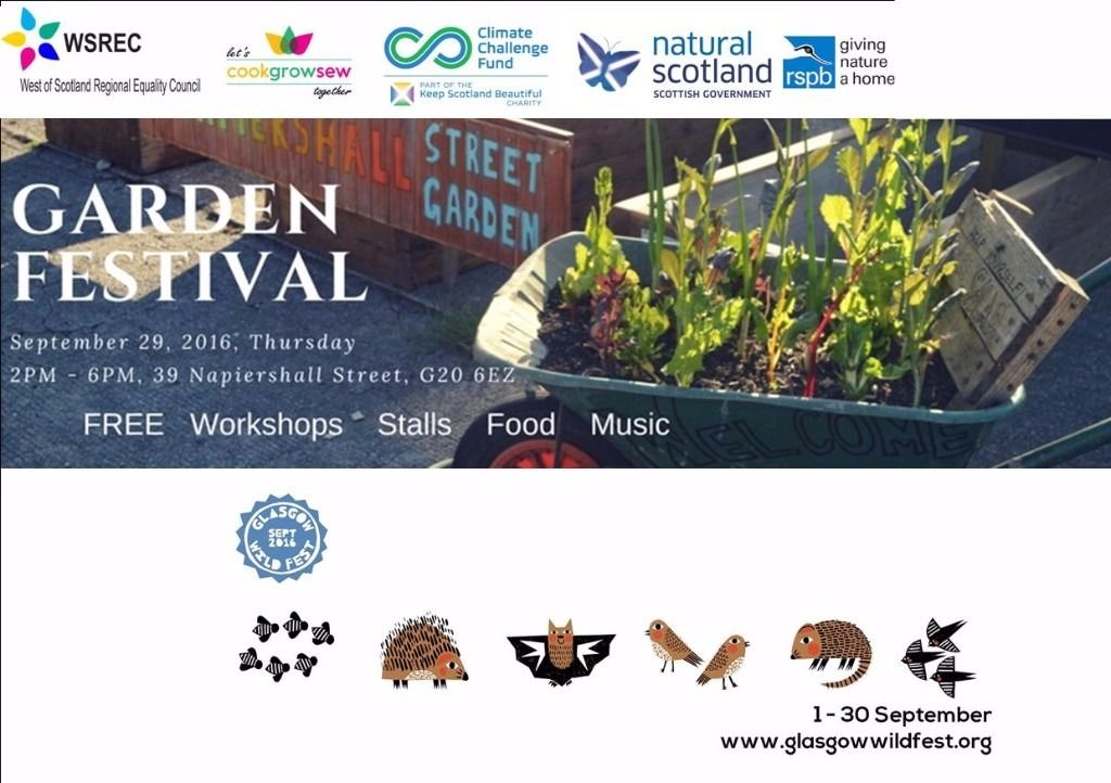 Napiershall St Community Garden Open Day & Glasgow Wildfest