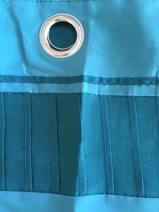"Fully lined teal ring top curtains 46"" X 54"""