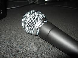 Shure SM58 Mic with pouch as new condition