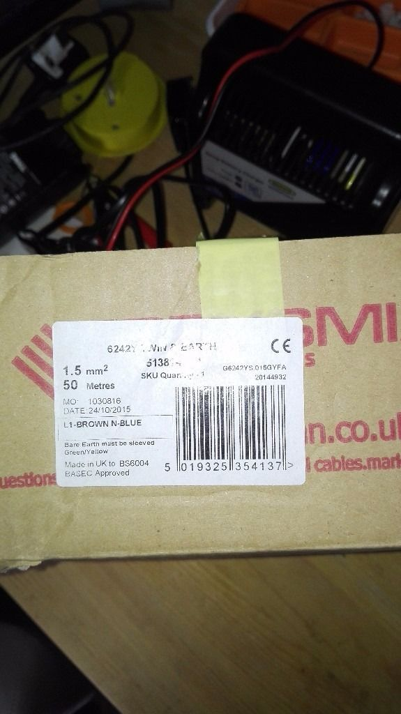 Reel of trade electrical cable