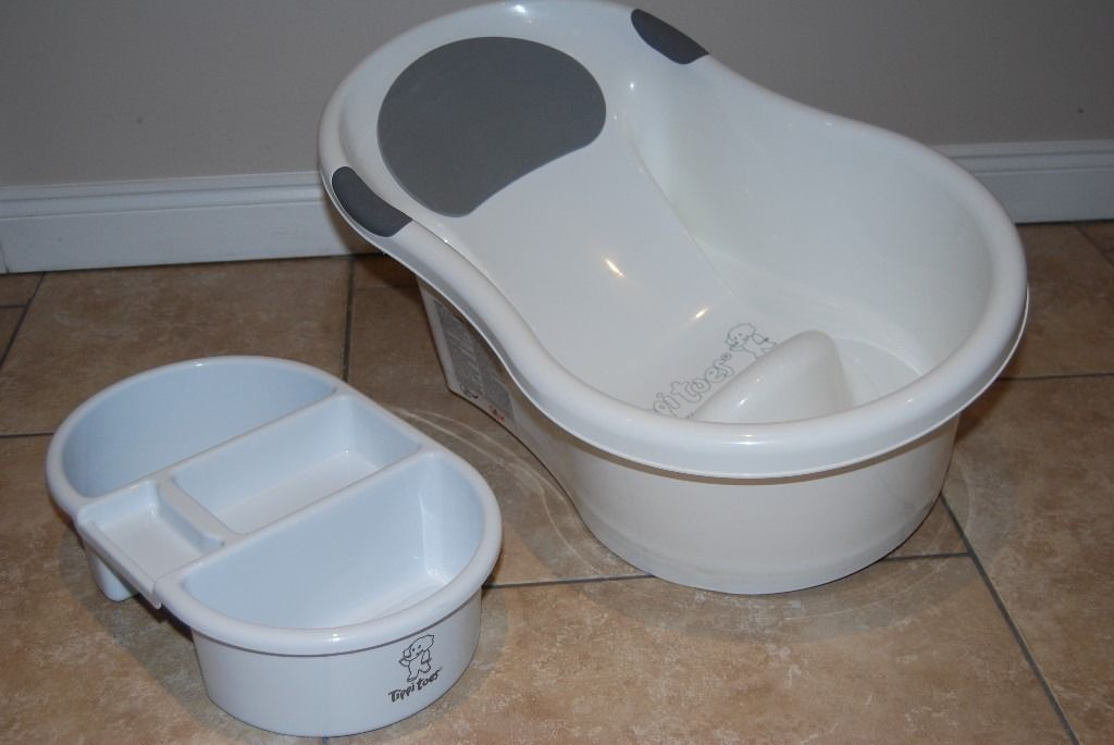 Tippitoes Mini Baby Bath & Top and Tail Bowl - WHITE