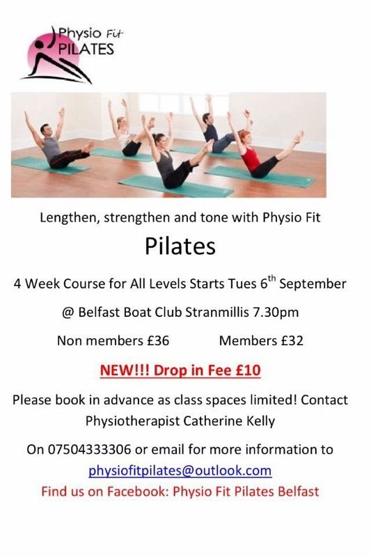 Physiotherapist led Pilates Classes Stranmillis Belfast