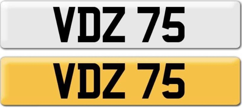 *VDZ 75* Dateless Personalised Cherished Number Plate Audi BMW M3 Ford VW Caddy Mercedes Vauxhall