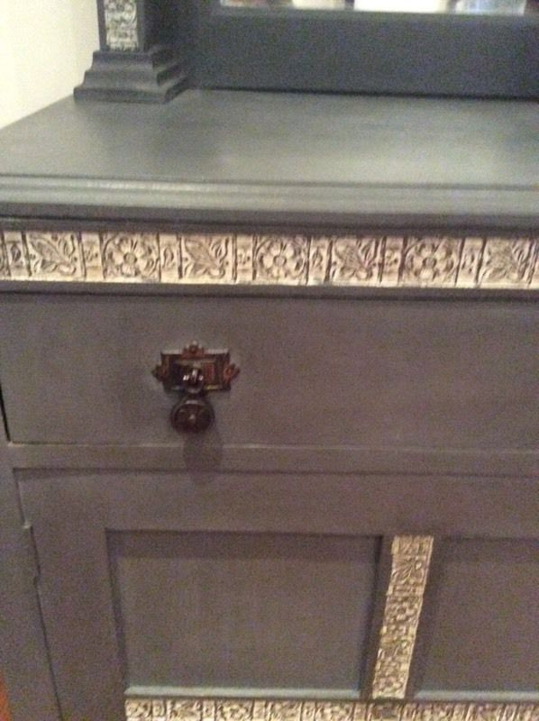 Antique sideboard painted Annie Sloan paint