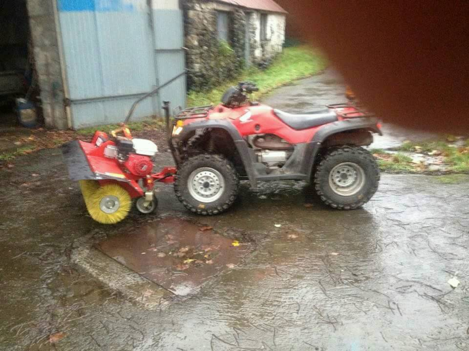 logic power brush and chassis for quad bike