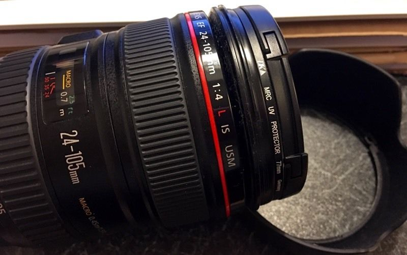*EXCELLENT CONDITION* Canon 24-105mm f/4 L IS USM Lens with Germany MRC UV Filter