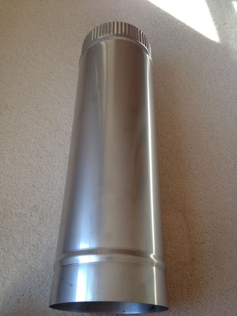 Silver kitchen flue