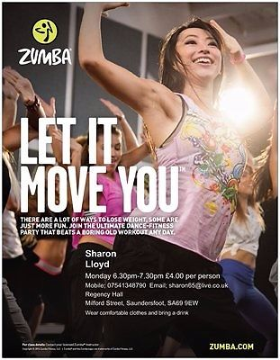 Zumba Fitness Starting Monday 5th September 6.30-7.30pm.