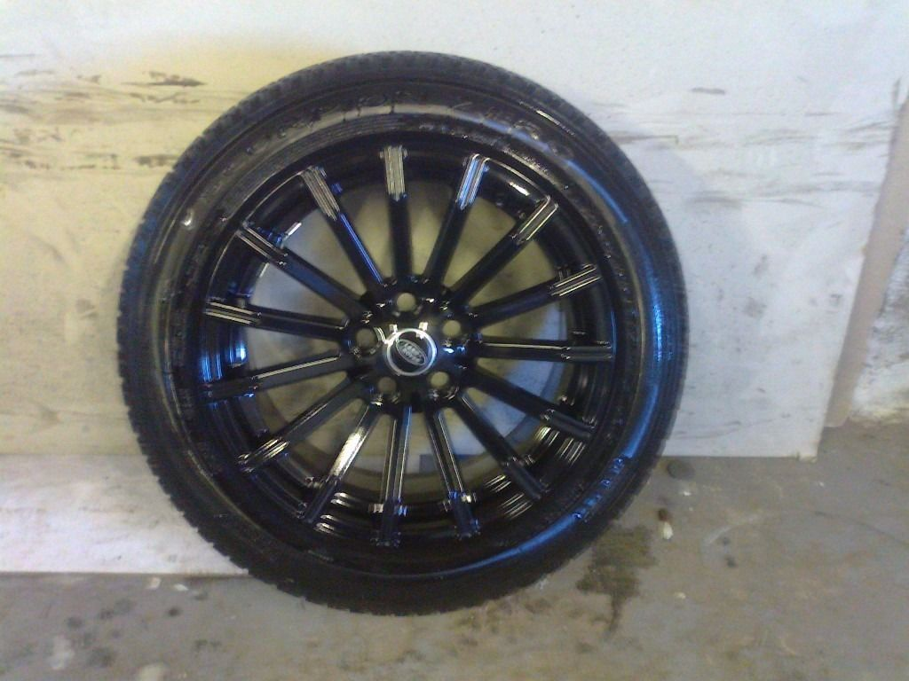 ALLOYS X 4 OF 19 INCH GENUINE DISCOVERY/RANGEROVER FULLY POWDERCOATED INA STUNNING HIGHGLOSS BLACK