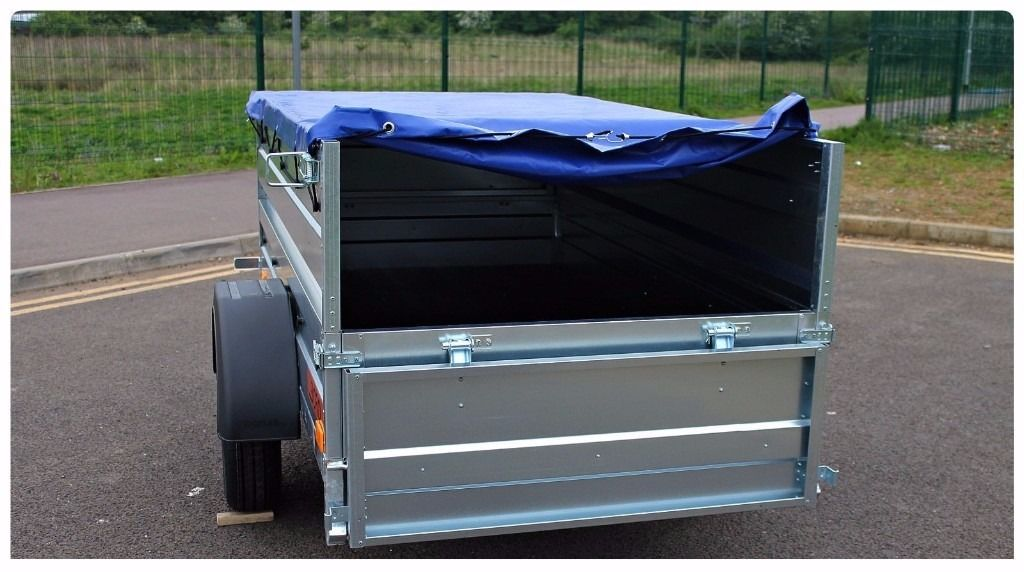 Hot sale Car Camping box trailer double broadside + top cover 750kg