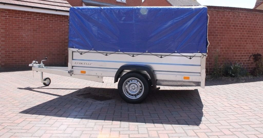 Hot sale Car trailer 7.74ft x 4.1ft (2.36m x 1.25m) + TOP COVER
