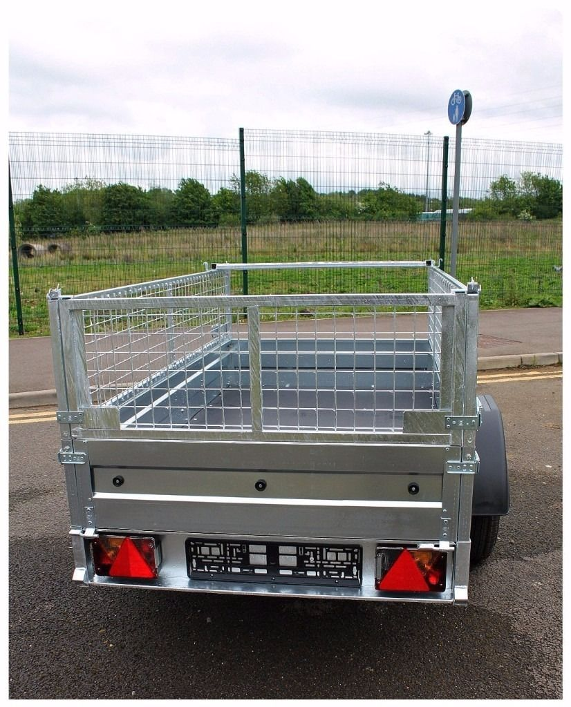 Hot sale car trailer 6 x 4 + mesh