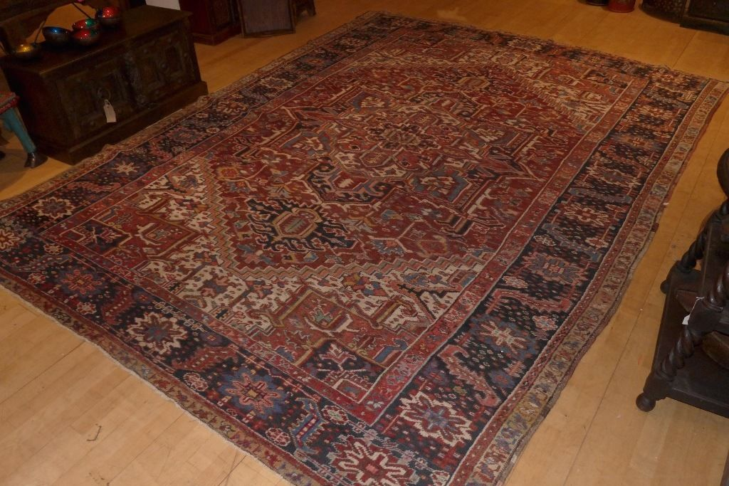 70 year old large Heriz rug