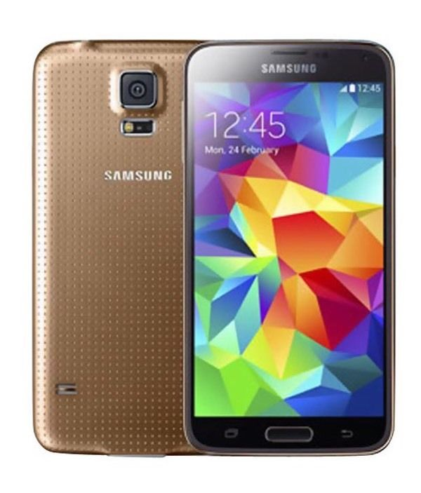 Galaxy s5 unlocked gold very good condition