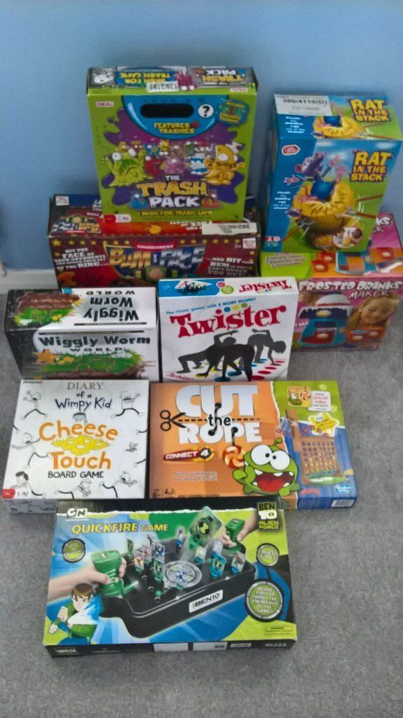 kids boxed games