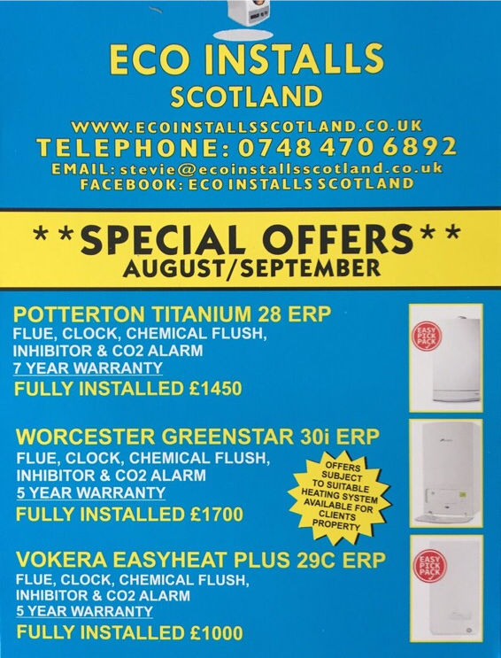 Boiler installation ** limited time only **